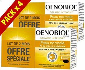 Oenobiol Solaire Intensif Nutriprotection Peau Normale – Peau Dorée Eclatante – Lot de 4 x 30 Capsules PN