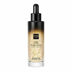 Ofanyia Apprêt de maquillage 24k hydratant raffermissant la peau rétrécissant les pores éclaircit l'apprêt de couleur de peau