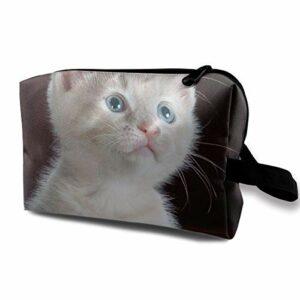 Personnalisé Kitty-Chat-Chaton-Pet Dames Soins de la Peau Sac cosmétique Sac cosmétique Portable Poche de Voyage étanche, Poche à glissière pour Sac à Main