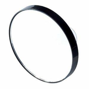 petit Miroir grossissant noir à ventouses X15 Diam 8,5cm sac main,salle de bain