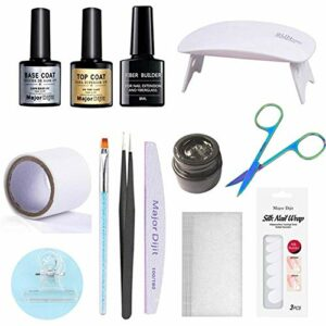 Professionnel Nail Extension Gel Kit, Kit Fau Ongle Gel Kit D'extension De Clou Ensemble D'outils De Salon De Manucure Pour L'extension Du Bâtiment Des Ongles
