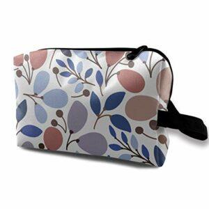 Sac cosmétique de Soins de la Peau pour Dames personnalisé Leaves2 Sac cosmétique Portable Poche de Voyage étanche, Poche à glissière pour Sac à Main