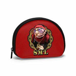 Sac de Rangement Shell Mallette de Maquillage de Voyage Jeffy pour pièces de clés de Rouge à lèvres 4,7×3,5 po