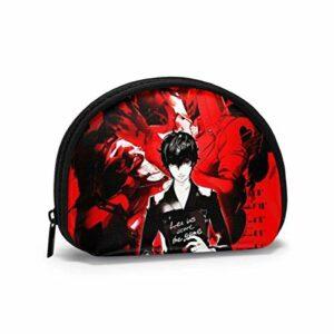 Sac de Rangement Shell Mallette de Maquillage de Voyage Persona pour pièces de clés de Rouge à lèvres 4,7×3,5 po