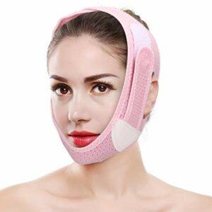 Sangle Amincissante pour Le Visage, Ceinture de Levage pour Le Visage, V Face Slimming Bandage High Elastic Face Skin Lifting Firming Slimming Belt