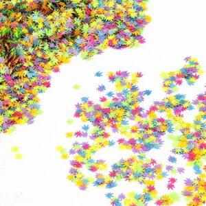 SAVITA 50 Grammes 6mm Paillettes Feuille Mauvaises Herbes, Paillettes de Paillettes de Paillettes de Corps d'ongle de Maquillage pour la Décoration de Festival d'artisanat de Bricolage (multicolore)