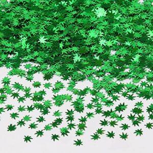SAVITA 50 Grammes de Paillettes de Feuille de Mauvaises Herbes, Paillettes de Paillettes de Paillettes de Corps d'ongle de Maquillage pour la Décoration de Festival d'artisanat de Bricolage (Vert)