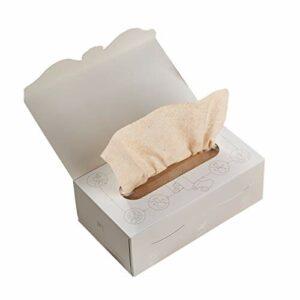 Serviette De Bain Jetable Souple, Ultra Doux Très Épais À Usage Unique Face Tissues Peau Sensible, Maquillage du Visage Doux Tapis, Sec/Humide Double Usage Beauté Serviettes