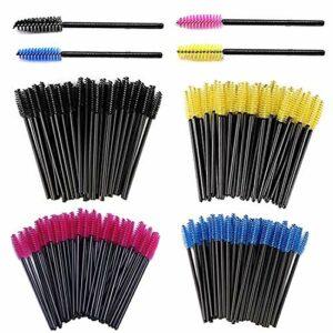 SIMIN 200 Pièces Jetable Cil Brosses,mascara jetable brosse maquillage outil de maquillage,multicolore