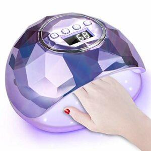 SINZONeu Lampe UV Sèche Ongles, 86W UV LED Séchoir à Ongles Professionnel Automatique, 39 LEDs, 4 Minuteries 10/30/60/99S
