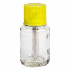 Solustre Pousser vers Le Bas Le Distributeur de Pompe Vide Bouteille en Verre Vide pour Le Maquillage Liquide Dissolvant de Vernis à Ongles Pompe Liquide Conteneur 80 ML