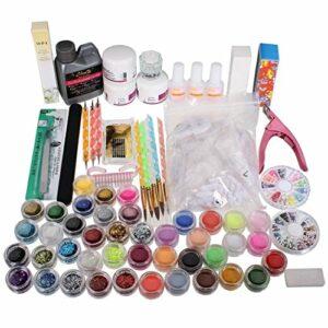 TANOU Ensemble des outils pour l'art des ongles Outils de soins des ongles en acrylique Ensemble des outils cosmetiques complets