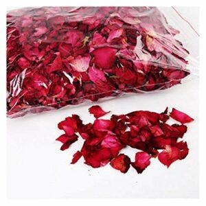 Tegent 25/50 g de pétales de Roses séchées Naturel Fleur Bath Spa Whitening Douche Rose Petals Fournitures Apaisant Arômamassage Bain (Smell : 50g)