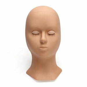 Tête de mannequin de poupée de beauté – Large application – Peau réaliste – Brun clair et tête