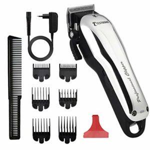 Tondeuse Cheveux, BESTBOMG Y5 Tondeuse à Cheveux Professionnelle avec 6 Peignes de Guidage, Lame Réglable, Batterie Li-ion Rechargeable 2000mAh Kit de Coupe Cheveux