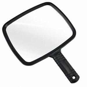 TRIXES Miroir de coiffeur manuel pour salons professionnels avec poignée – Miroir à Main Rectangulaire – Miroir de Barbier – Miroir Dentiste – Miroir Maquillage