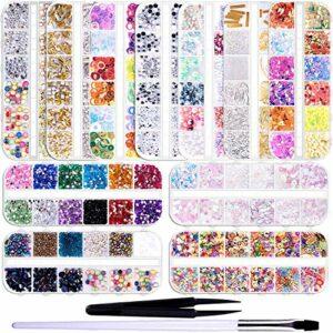 TYWZJ 15755 pièces Ongles gemmes Nail Art Strass Ongles Diamants avec Pinces à épiler et stylos Brosse à Ongles pour décoration d'art d'ongle