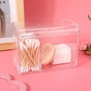 Uxsiya Boîte de Rangement d'organisateur de bouffée de Poudre de Maquillage Durable pour la Salle de Bain pour des tampons de Coton