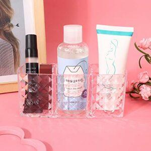 Uxsiya Boîte de Rangement d'outils cosmétiques de vitrine Professionnelle de Brillant à lèvres Transparente pour Salle de Bain