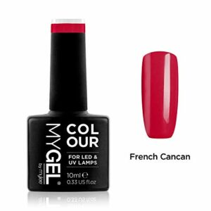 Vernis à ongles MyGel, de MYLEE (10ml) MG0006 – French Cancan Manucure UV/LED Nail Art Pédicure pour un usage professionnel dans le salon et à la maison – Durable et facile à appliquer