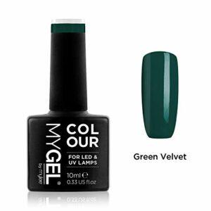 Vernis à ongles MyGel, de MYLEE (10ml) MG0060 – Green Velvet Manucure UV/LED Nail Art Pédicure pour un usage professionnel dans le salon et à la maison – Durable et facile à appliquer