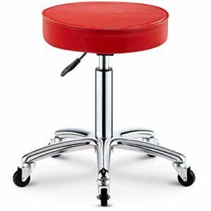 WANGXN Chaise pivotante Tabouret de Bureau Tabouret de Salon de beauté Tabouret médical Tabouret Roulant, Hauteur réglable, avec Roues, Rotation à 360 degrés