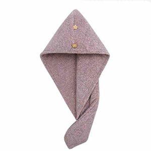 WLD Bonnet de cheveux secs sac absorbant femme Turban bonnet de douche mignon cheveux longs serviette de cheveux secs épaissie serviette de cheveux facile à sécher