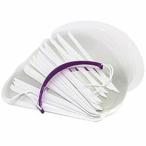 WMOFC Hair Salon Masque De Bouclier De Fixatif,Baffle Haircut Transparent Bouclier Cheveux Protection des Yeux Bloc Visage Clair Coupe De Cheveux Bouclier Outil Coiffeur Salon,150psc