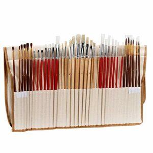 YaGFeng Paintbrushes Nylon Cheveux Artiste Peinture Acrylique Pinceaux Aquarelles De Cadeau Parfait for Les Artistes Adultes Et Les Enfants Brush Set (Color, Size : 38 pcs)