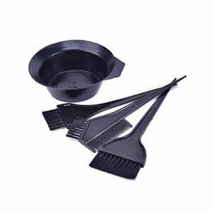 YHN 4 pièces/Ensemble Cheveux Couleur Colorant Bol Peigne brosses Trousse à Outils Teinte Coloration Colorant Bol Peigne Brosse