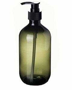 1 flacon de 500 ml avec pompe à pression en plastique PET pour salle de bain – Pour shampoing, gel douche, lotion, conditionneur, cosmétiques, maison ou hôtel