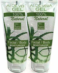100% Natural Gel d'Aloe Vera – Visage & Corps Cheveux – Calmant Aprés Epilation – 2 x 200 ml