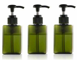 100ml bouteilles en plastique vides de pompe pots d'articles de toilette rechargeables récipients liquides accessoires de salle de bains (3pcs) (Vert)