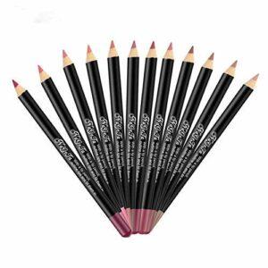 12 Pcs Ensemble Lip Liner Crayon Lot Étanche Longue Durée Mat Rouge À Lèvres Stylo À Lèvres Maquillage Rouge À Lèvres Crayon Beauté Lèvres Kit
