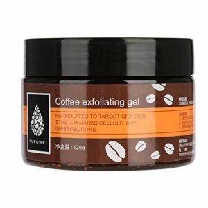 120g Gel Exfoliant Exfoliant, Café Gel Exfoliant Exfoliant Visage Mains Pieds Décapant Peau Morte Hydratant Lissage