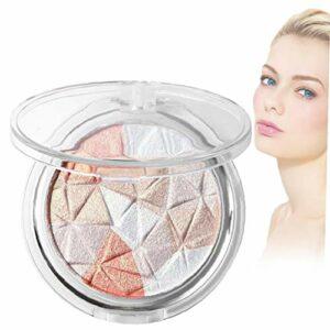 1pc en trois dimensions cristal de diamant surligneur poudre multi-couleurs avec Délicat éclaircissant multifonctions pratique Réparation surligneur poudre 2 Maquillage