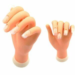 1pc Nail Art Kit pratique Nail Trainning pratique main ongles Affichage manucure alimentation professionnelle main pour Mannequin manucure (main gauche)
