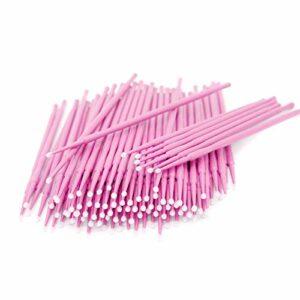 200 pcs Micro Brosses,Micro applicateurs brosses, Coton-tige jetable,jetables Extensions de cils, pour Extension de Cils,Coloration des Cils,Oral et Dentaire,Maquillage