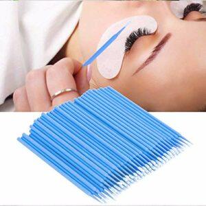 200 pcs Micro Brosses,Micro applicateurs brosses, Coton-tige jetable,Mini Pinceau Extensions de Cils, pour Extension de Cils,Coloration des Cils,Oral et Dentaire,Maquillage