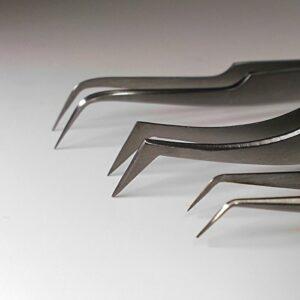 3 pcs Pinces pour technique extension de cils»xD» Volume, Set pour 3D-, 5D- y 7D Volume Russe