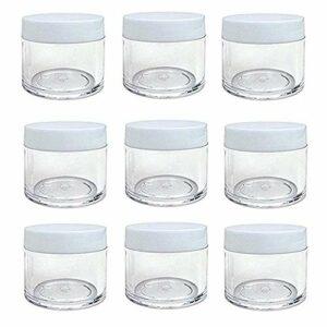 30 g 30 ml/28,3 gram rechargeables Plastique Rond clair bocaux avec bouchon à visser Couvercle vide Cosmétique bocaux Lot) conteneurs pour fard à paupières de maquillage ongles Poudre