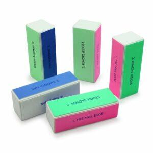 5pcs bloc buffer file polissoir lime ongle ponçage manucure art pr beauté nail