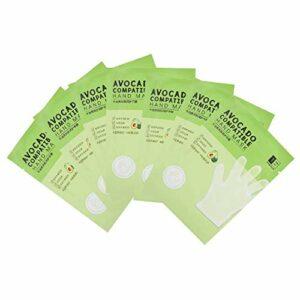 7 paires de masque pour les mains à l'avocat masque pour les mains hydratant respectueux de la peau masque pour les mains hydratant, nourrissant, raffermissant et lissant