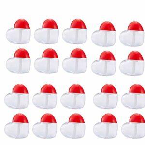 Aodow 20Pcs Heart Shaped Vide Lip Gloss Tubes Mini Baume À Lèvres Les Contenants Réutilisables Cosmétiques Bouteilles Échantillons Maquillage Bricolage Récipient pour Baume À Lèvres Gloss