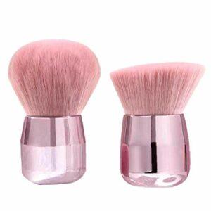 Appliquer Powders Fard à Joues Bronzer Fondation Maquillage minéral Visage Champignon Professionnel Grande tête minérale Rose d'or 2PCS