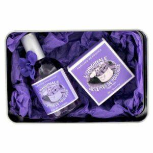 Berdoues Coffret l'originale Violettes de Toulouse Eau de toilette 110 ml + Savon 100gr