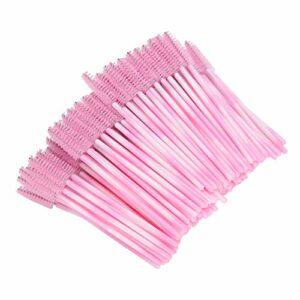 Brosse à mascara, brosse à cils jetable portable écologique, pour maquillage délicat accessoire de maquillage féminin accessoire femme(Pink)