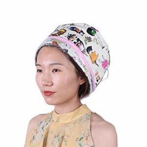 Chapeau électrique de vapeur de cheveux chauffage chapeau d'outil de soin des cheveux professionnel durable pour le ménage pour le(European standard 220V)