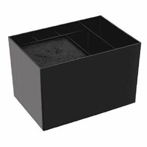 Ciseaux Barbier Boîte de rangement Porte-brosse à cheveux Organisateur Noir coiffure toiletteur Boîte à outils