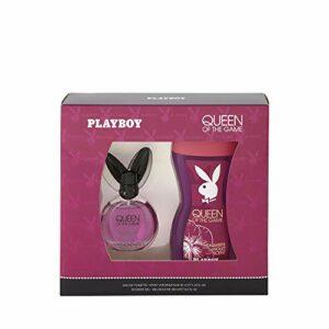 Corine de Farme – Coffret Playboy Queen Of The Game – Coffret Cadeau pour Femme – Eau de Toilette 40 ml et Gel Douche 250 ml – Parfum Floral et Sensuel
